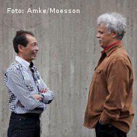 Wouter Muller (l) en Johnny Rahaket (r). Foto: Amke/Moesson