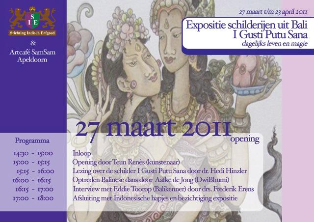 Expositie Balinese schilderijen voorzijde)