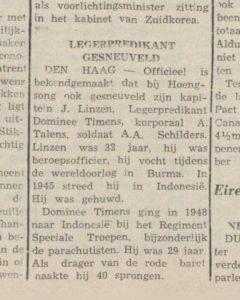 Uit: Het Nieuws/Algemeen Dagblad, 15-2-1951