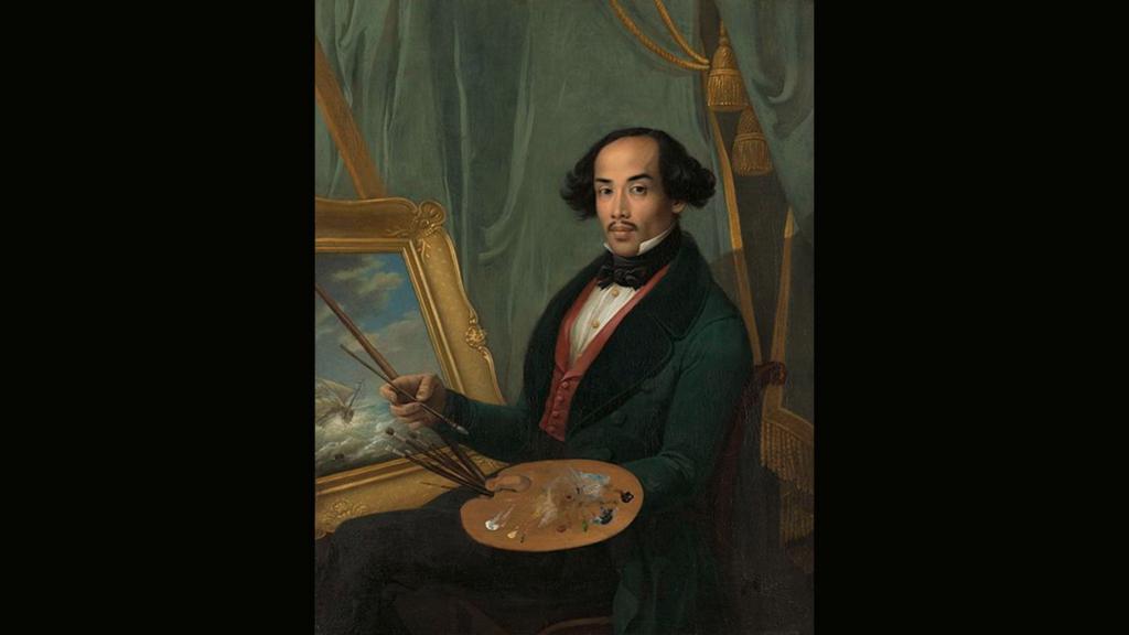 Friedrich Schreuel - Portret van Raden Syarif Bustaman Saleh
