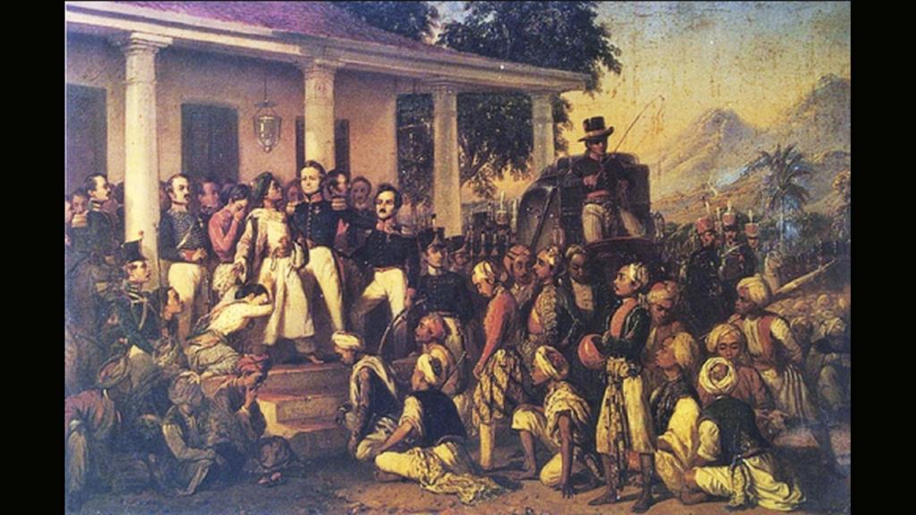 Raden Saleh - Penangkapan Diponegoro (arrestatie van Diponegoro)