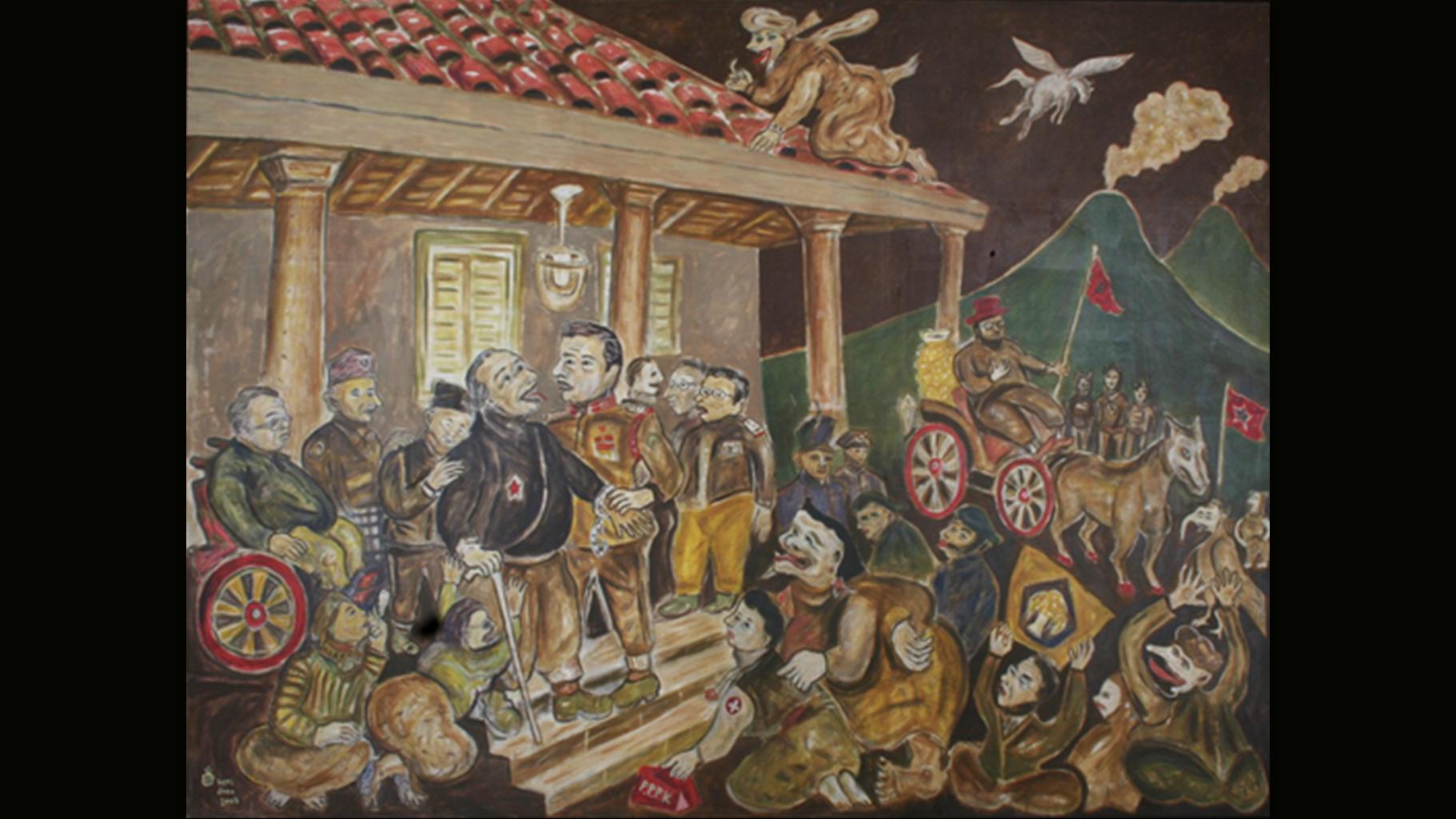 Heri Dono - Salah Tangkap Pangeran Diponegoro