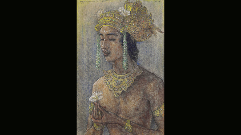 Rudolf Bonnet - Balinese Actor as Arjuna Bertapa