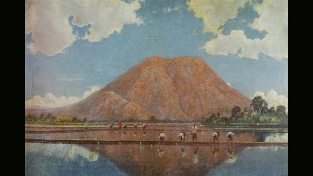 Leo J. Eland - Een landschap op Java