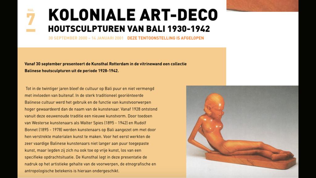 Koloniale art-deco (Kunsthal Rotterdam, 2000-2001)